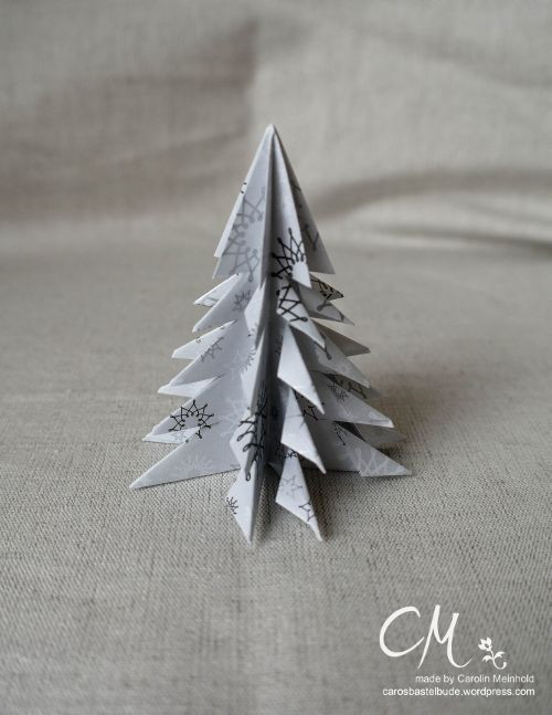 adventskalender t rchen nr 9 origami tannenbaum caros bastelbude. Black Bedroom Furniture Sets. Home Design Ideas