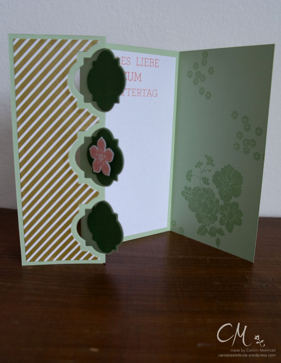 Caros Bastelbude: Muttertagsgrüße, Sizzix Framelits Karte, DSP Gala Soiree #Muttertag #cardmaking #StampinUp