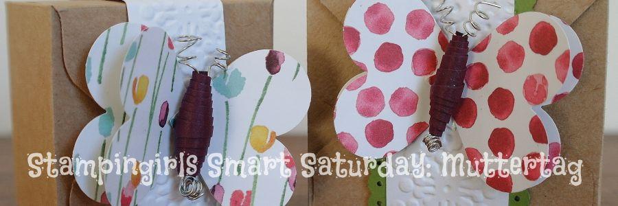 Caros Bastelbude: Stampingirls Smart Saturday - Muttertag, Geschenkbox mit Schmetterlingsbanderole, #StampinUp #EnvelopePunchBoard #Muttertag, carosbastelbude.de