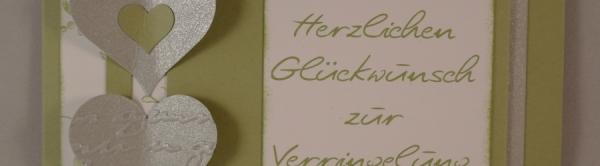 Caros Bastelbude: Hochzeitskarte mit besonderer Form #Hochzeit #cardmaking