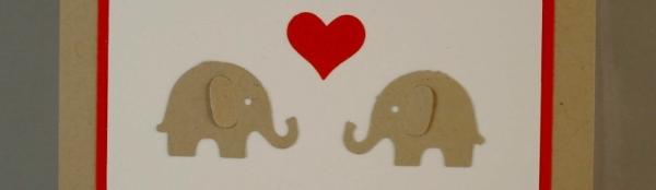Caros Bastelbude: Glückwunschkarte zur Hochzeit °1, Elefanten von Martha Steward, Hello Life #StampinUp #Hochzeit