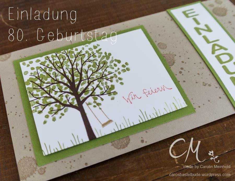 Einladungskarten Selbst Gestalten So Einfach Geht S: Geburtstagseinladung °2 · Caros Bastelbude