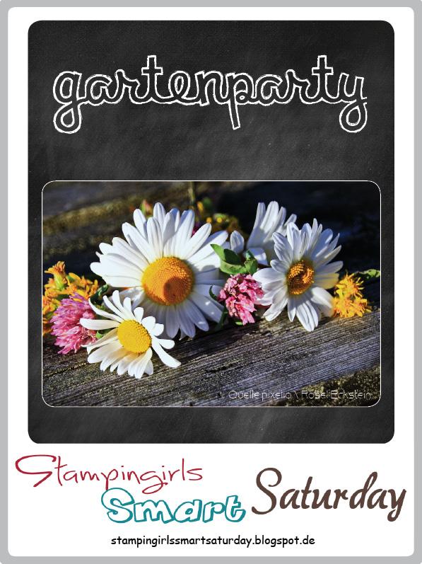 Stampingirls Smart Saturday: Gartenparty, Tischdekoration, Blumenstrauß mit dem Set Flower Patch #CarosBastelbude #StampinUp carosbastelbude.de