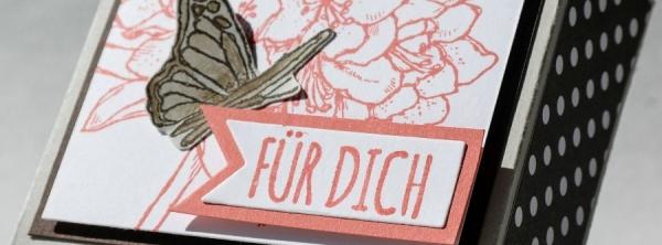 Pizzabox 8 x 8 cm gestaltet mit dem Gastgeberinnenset Gute Gedanken #CarosBastelbude #StampinUp