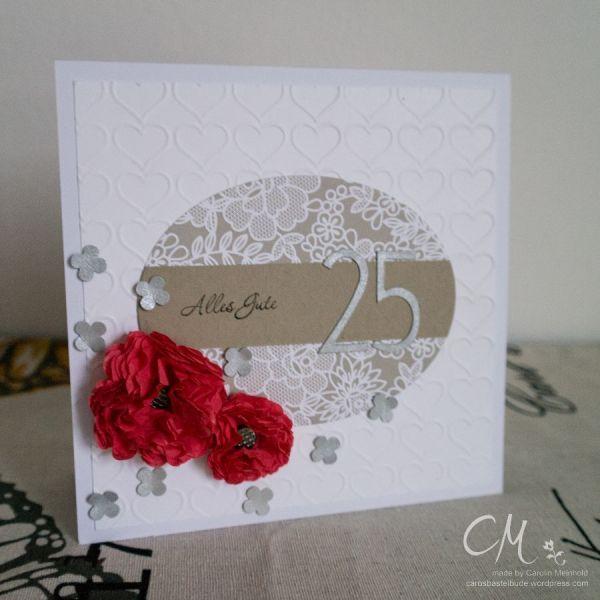 Grußkarte zur Silbernen Hochzeit #CarosBastelbude #StampinUp #Hochzeit