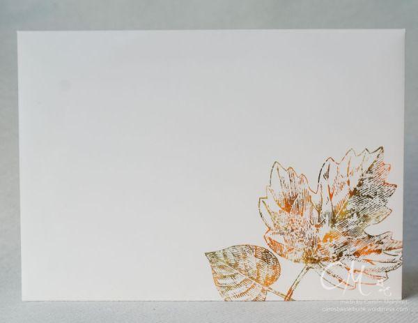 Herbstliche Karte mit Baby Wipe Technik, und Stempelset Vintage Leaves von #StampinUp #Caros Bastelbude carosbastelbude.de