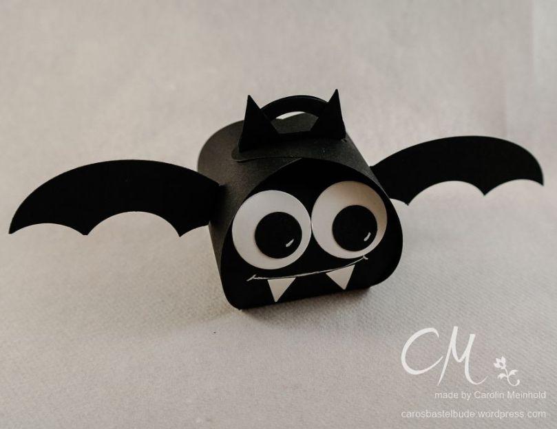 Fledermaus aus der Zierschachtel für Andenken #CarosBastelbude