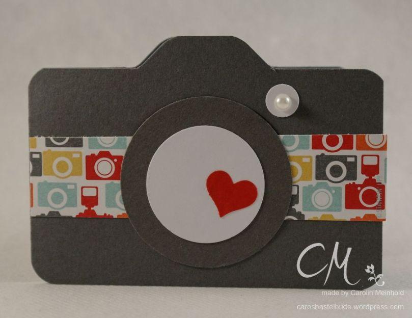Geschenk zum 30. Geburtstag, Gutscheinkarte Fotoapparat