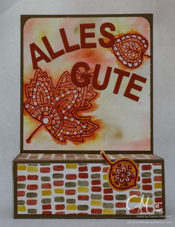 Aufstellkarte mit Schublade, Blättertanz, Stampin' Up! #CarosBastelbude carosbastelbude.de