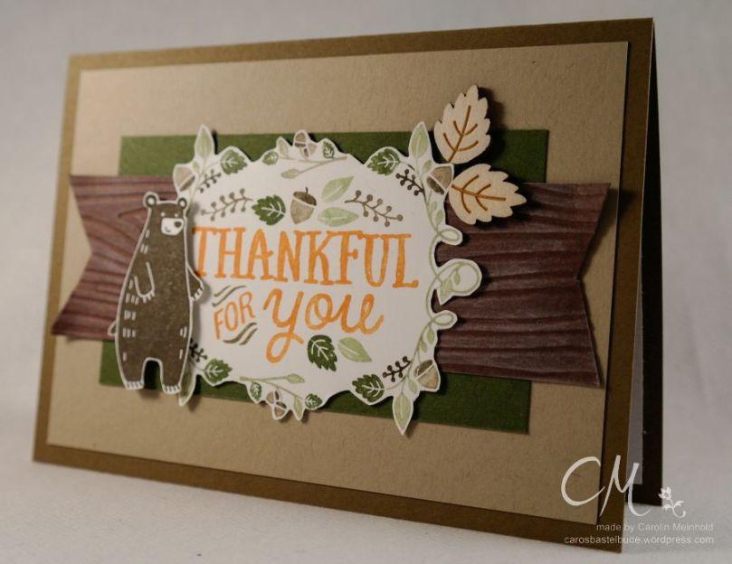 Herbstkarte mit dem Set Forest Friends #CarosBastelbude