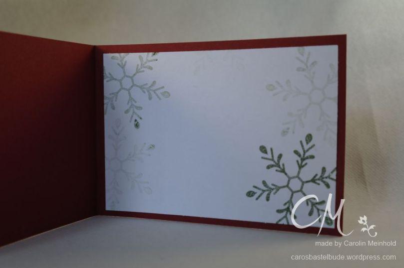 Grußkarte Frohe Weihnachten nach einem Beispiel aus dem Stampin' Up! Herbst- / Winterkatalog, Stempelset Winterliche Weihnachtsgrüße / Holly Jolly Greetings p. 34 #CarosBastelbude