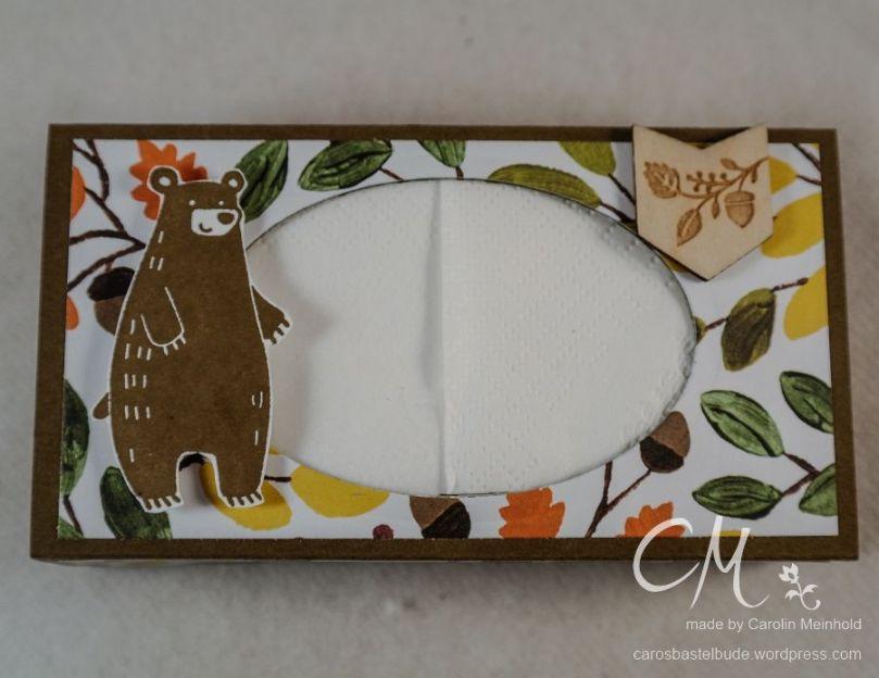 Stampingirls Smart Saturday: Werd schnell gesund, Taschentücher-Box als kleines Geschenk, mit dem Envelope Punch Board, Stampin' Up! #CarosBastelbude carosbastelbude.de