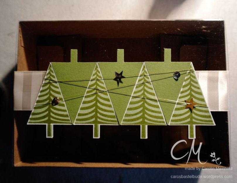 Weihnachts{wahn}Sinn Adventskalender Blog Hop. Geschenkbox für selbstgemachte Kekse, Layered Letters, Christbaumfestival, Stampin' Up! #CarosBastelbude carosbastelbude.de