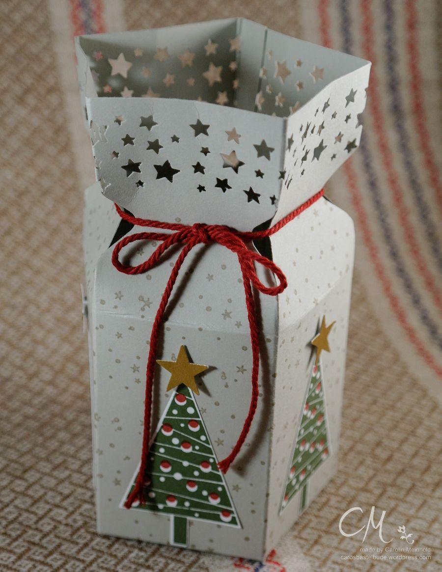 Fünfeckige Geschenkbox mit dem Envelope Punch Board #CarosBastelbude