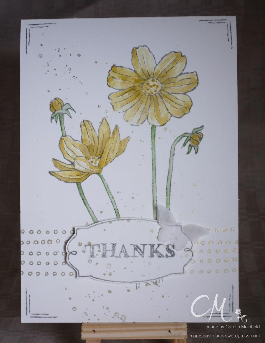 Grußkarte Dankeschön mit Stampin' Up! Set Helping Me Grow p. 20 #CarosBastelbude