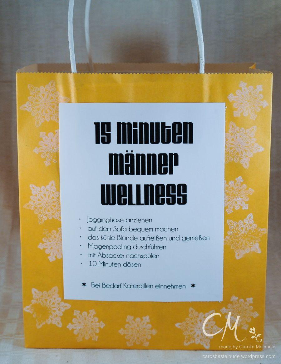 15 Minuten-Männer-Wellness in der Tüte · Caros Bastelbude