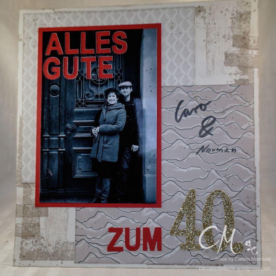 Seite für ein Album mit Glückwünschen zum Geburtstag, Scrapbooking #CarosBastelbude carosbastelbude.de