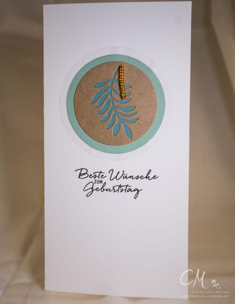 Mein Liebling des Monats Februar, Danielas Stempelwelt, Grußkarte Geburtstag, Pflanzen-Potpourri #CarosBastelbude