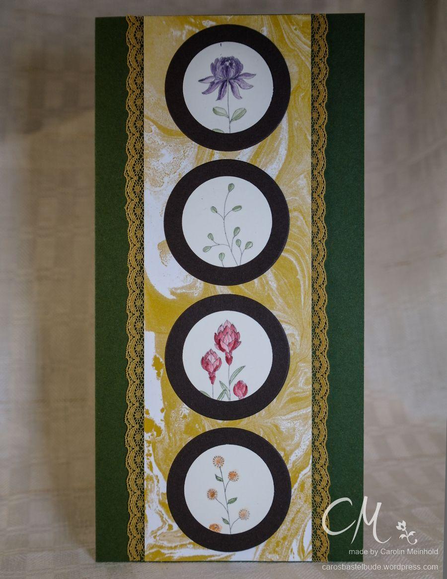 Grußkarte mit dem Stempelset Flowering Fields, Stampin' Up!, SAB 2016 #CarosBastelbude carosbastelbude.de