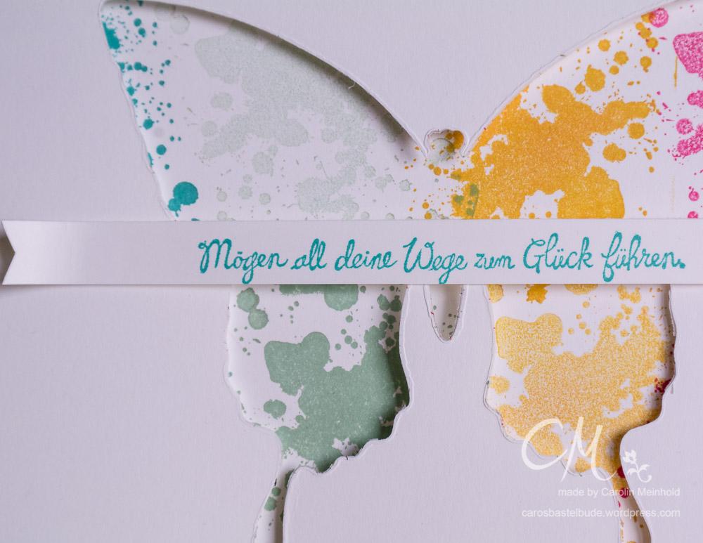 metterlingsgrüße, Gorgeous Grunge im Hintergrund, Grußkarte #CarosBastelbude carosbastelbude.de