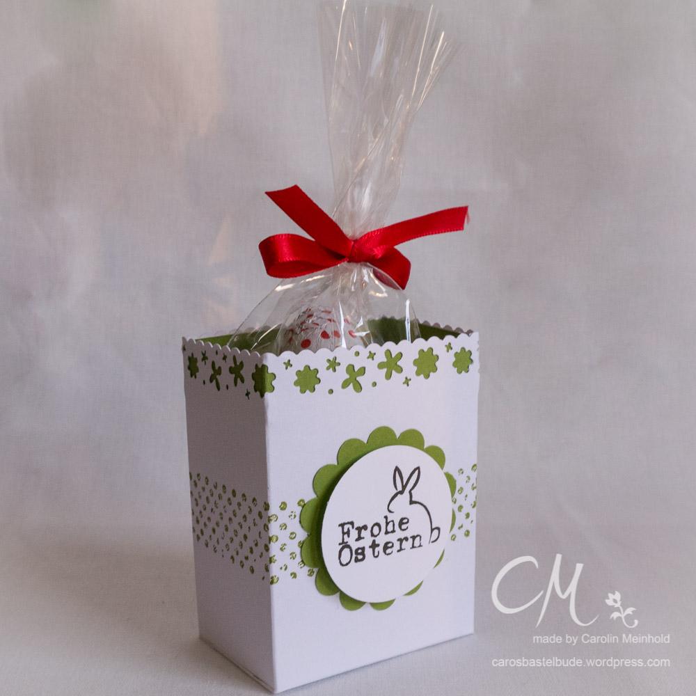 Osterverpackung für Milka Schokohase oder kleine Zellophantüte #CarosBastelbude carosbastelbude.de