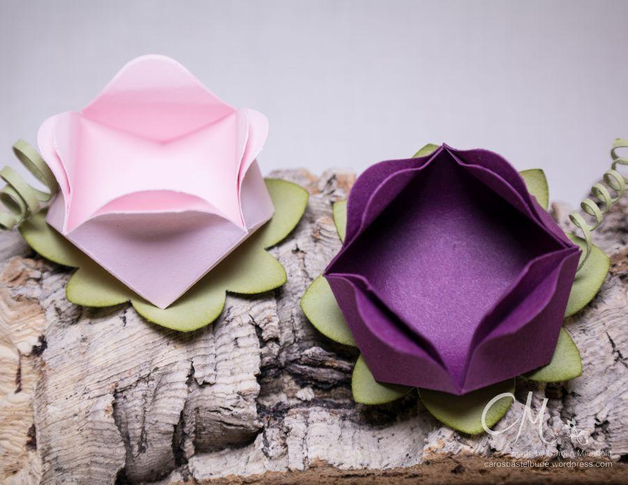 Rosenblüten als Goodies nach einer Anleitung von Melis StempelParadis #CarosBastelbude