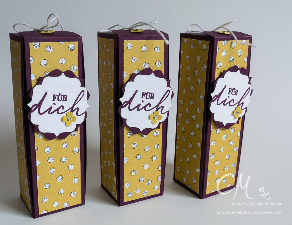 Besondere Verpackung, Geschenk für Gastgeberin #CarosBastelbude carosbastelbude.de