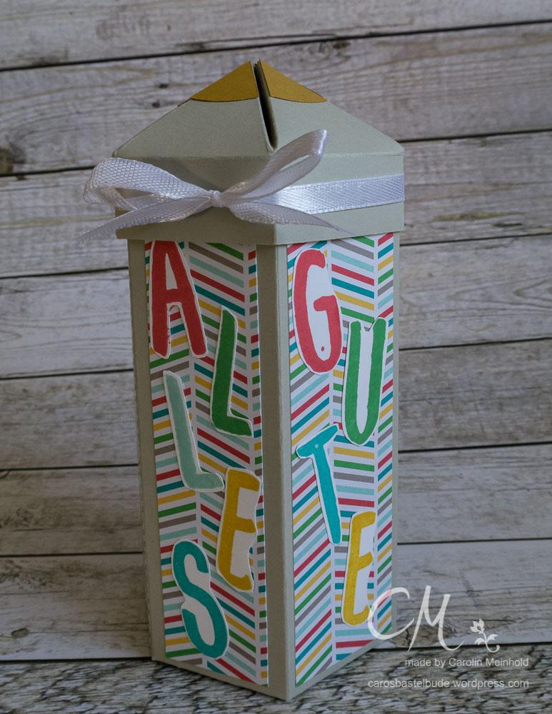 Box in Stiftform #CarosBastelbude