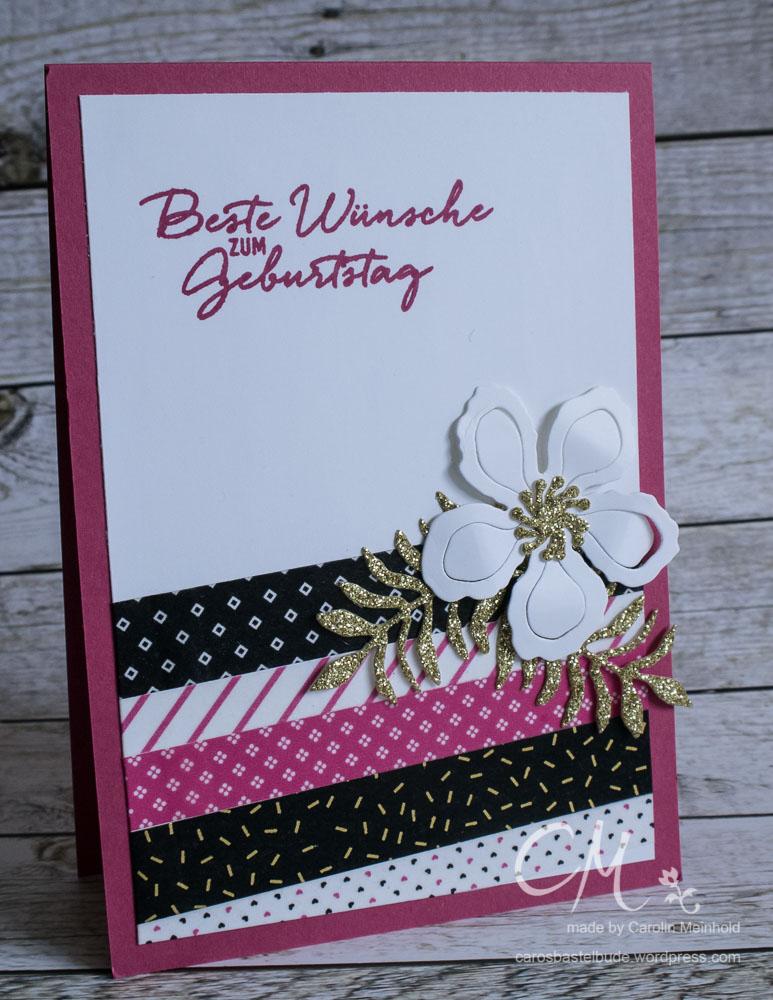 Geburtstagskarte Pink mit Pep #CarosBastelbude
