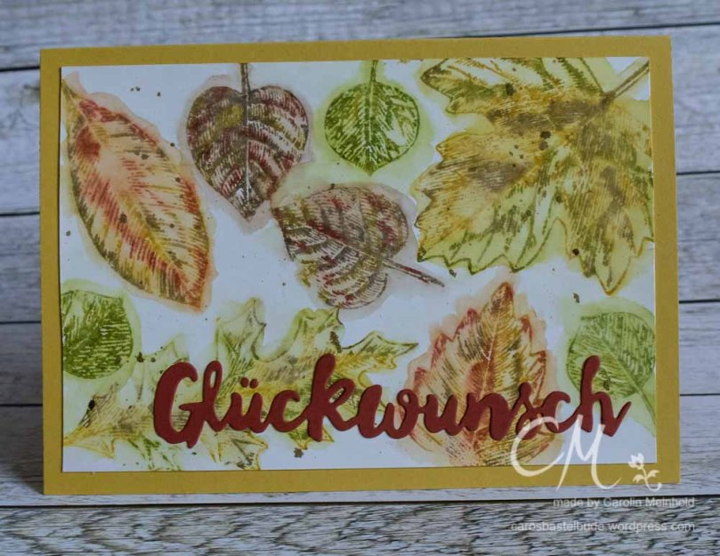 Grußkarte Herbst mit Stempelset Vintage Leaves von Stampin' Up! #CarosBastelbude