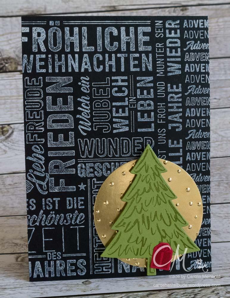 Weihnachtskarte mit Stempel Weihnachtspotpourri #CarosBastelbude