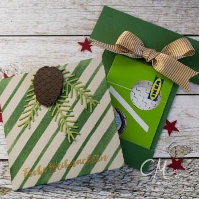 Karte für Gutscheinkarte oder Geld in From eines Geschenks #CarosBastelbude