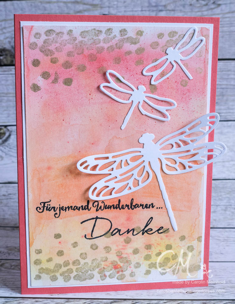 Grußkarte Kleines Dankeschön mit dem Stempelset Li(e)belleien / Dragonfly Dreams von Stampin' Up! #CarosBastelbude