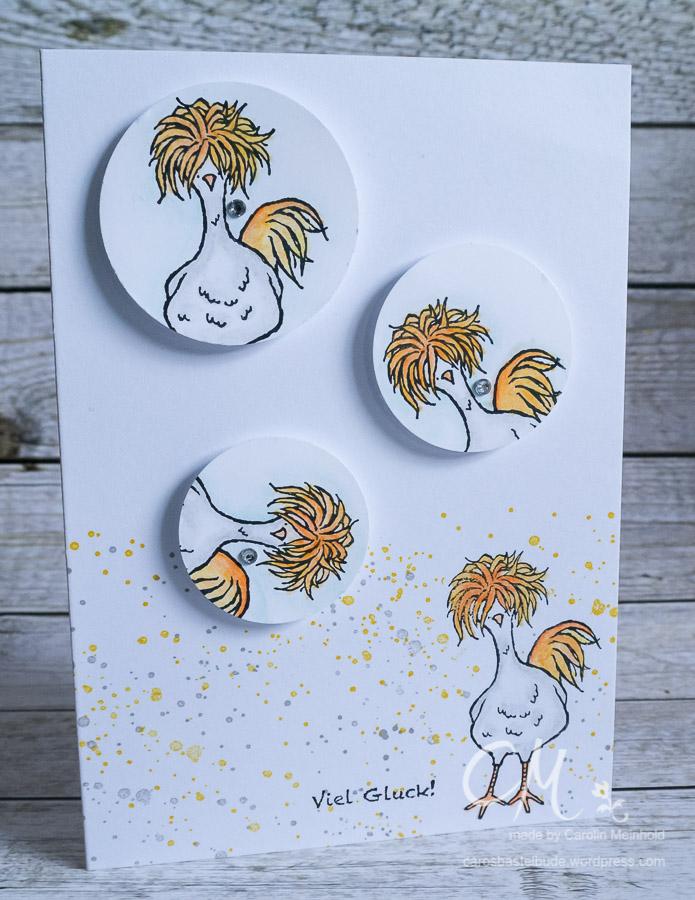 Stempelset Das Gelbe vom Ei, Grußkarte #CarosBastelbude
